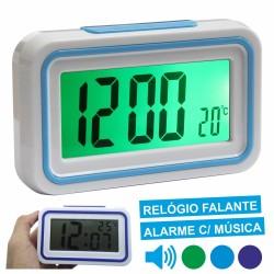 Relógio Falante c/ Termómetro E Alarme