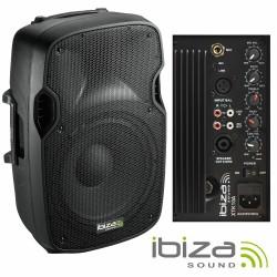 "Coluna Bi-Amplificada 10"" 300Wmáx Abs Ibiza"