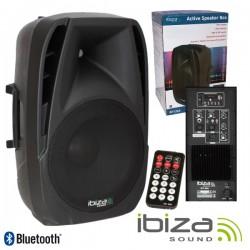 """Coluna Amplificada 12"""" 450Wmáx Comando Usb/Bt/Sd Ibiza"""