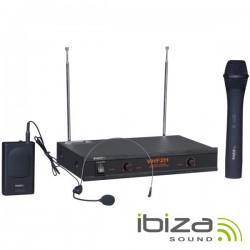 Central Microfone S/Fios 2 Canais Vhf 160~260Mhz Ibiza