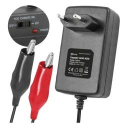 Carregador de Baterias Chumbo 6-12V 500Ma
