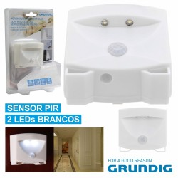 Luz de Presença 2 LEDs Brancos e Sensor Presença - Grundig