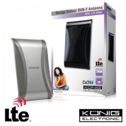 Antena Tdt Interior Amplificada 22Db Com Filtro Lte Konig