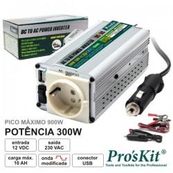 Conversor 12v-230v 300w Onda Sinusoidal Modificada Pro'sKit