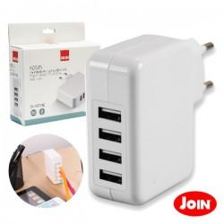 Alimentador Compacto 5Vdc 4.9A 4xUSB - Join