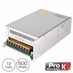 Fonte de Alimentação Industrial 12V 500W 41.6A Prok