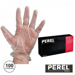 "Luvas descartáveis Em Vinil Tam ""L"" 100X Perel"