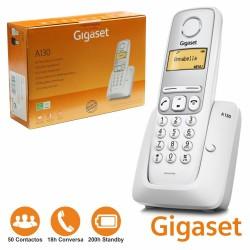 Telefone S/ Fios A130 Branco Prata Gigaset