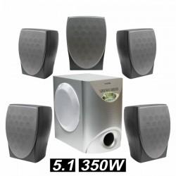 Conjunto Passivo Home Theater 5.1 Superbass 350W