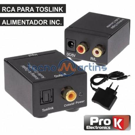 Conversor Audio Rca -» Toslink Prok