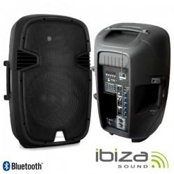 "Coluna Amplificada 15"" 300W Usb/Bt/Sd Ibiza"