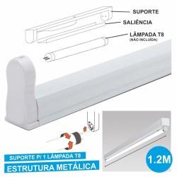 Armadura 1.2M p/ Lâmpada Tubular T8