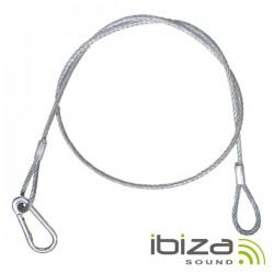 Cabo de Segurança Aço c/ Mosquetão Ø2mm 87cm Ibiza