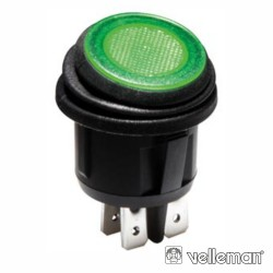 Interruptor Basculante Iluminado Led Verde 2p/On-Off