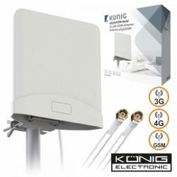Antena 4G/3G/Gsm Amplificada c/2 Cabos 2.5M Konig