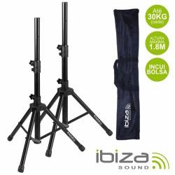 Conjunto 2 Suportes p/ Colunas c/ Bolsa 1.8M 30Kg Ibiza