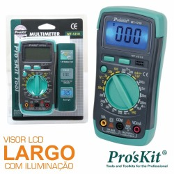 Multímetro Digital 3½ Dígitos Retroiluminado Pro'sKit