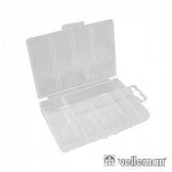 Caixa Arrumação Plástica 85X135X25mm 5 Compartimentos