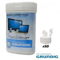 Caixa 50 Toalhetes Humidos p/ Limpeza de Ecrans Grundig