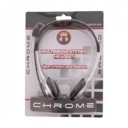 Auscultador Stereo c/ Microfone p/Pc