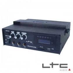 Amplificador 3 Canais Pa 70V 12/220V 60W Usb/Sd Ltc