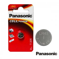 Pilha Botão Alcalina 1.5V/Lr43 Blister Panasonic