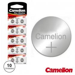 Pilha Botão Alcalina Ag7 / Lr926 1.5V 10X Blister Camelion