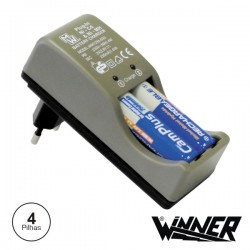 Carregador de Baterias Ni-Cd/Ni-Mh AA c/ 4 Baterias