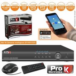 Vídeo-Gravador Digital 16 Canais H264 Ethernet Prok