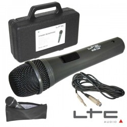 Microfone Dinâmico c/ Cabo/Mala/Bolsa 80Hz-20Khz Ltc
