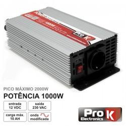 Conversor 12V-230V 1000W Onda Sinusoidal Modificada Prok