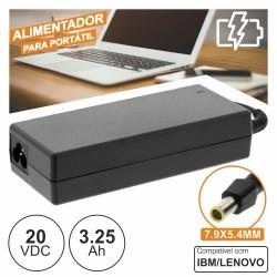 Alimentador p/ Ibm/Lenovo 20V 3.25A 65W 7.9X5.4mm