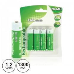 Bateria Ni-Mh AA 1.2V 1300Ma 4X Blister
