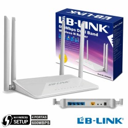 Router Wifi 4 Antenas Dual Band 600Mbps 4 Port Wps Lb-Link