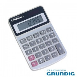 Maquina Calculadora 8 Dígitos Solar Grundig