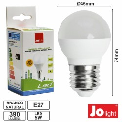 Lâmpada LED E27 230V 5W 4200K 390Lm Branco Natural Jolight