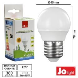 Lâmpada LED E27 230V 5W 3000K 380Lm Branco Quente Jolight