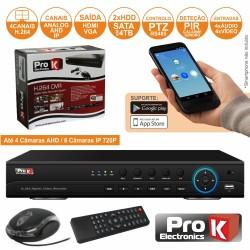 Vídeo-Gravador Digital 4 Canais Ahd Quad Ethernet 1080P Prok