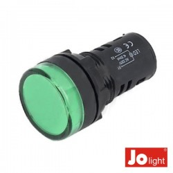 Luz Piloto Redondo de Painel 29mm 24V Verde Jolight
