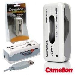 Carregador de Baterias Ni-Cd/Ni-Mh AAA/AA Usb Camelion