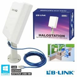 Placa Rede Wifi Exterior 14Dbi 802.11B/G/N Usb 5M Lb-Link