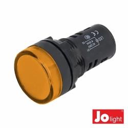 Luz Piloto Redondo de Painel 19.5mm 12V Amarelo Jolight