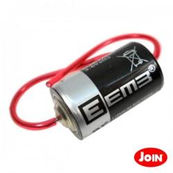 Pilha Lithium 1/2AA Er14250 3.6V 1200mAh com Fios para Soldar