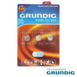 Pilha Botão Alcalina Ag12 / Lr43 1.5V 3X Blister Grundig