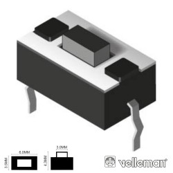 Pulsador Micro Switch 6X3.5mm Altura 4.3mm