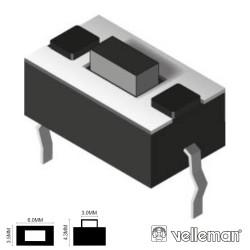 Pulsador Micro Switch 6X3.5mm Altura 4.3mm