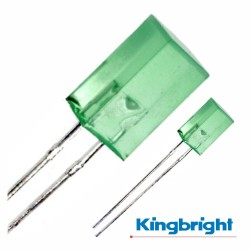 Led 5X5mm Alto Brilho Verde Difuso Kingbright