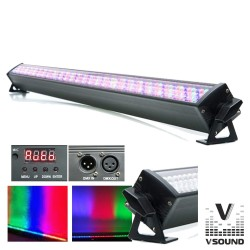 Barra de LEDs c/ Strobe 240 Leds 10mm Rgb Dmx Vsound