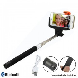Vara Telescópica Monopod p/ Selfies c/ Bluetooth