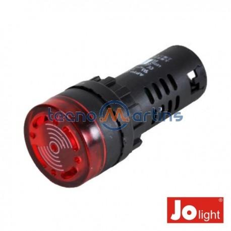 Luz Piloto Redondo de Painel 29mm 12V c/ Besouro Vermelho